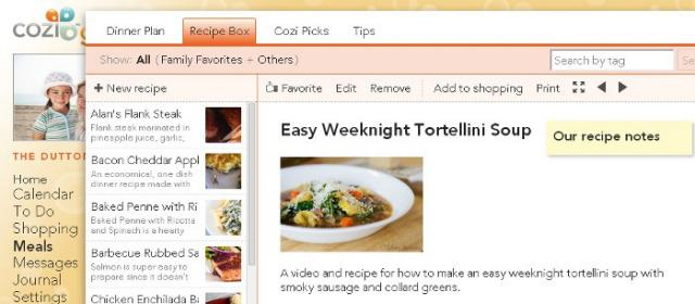 A Chart-Topping List of Recipes Added to Cozi Meals (from Other Recipe Websites)